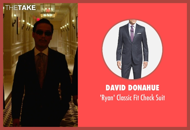 David Donahue gray suit from Focus seen with BD Wong (Liyuan)