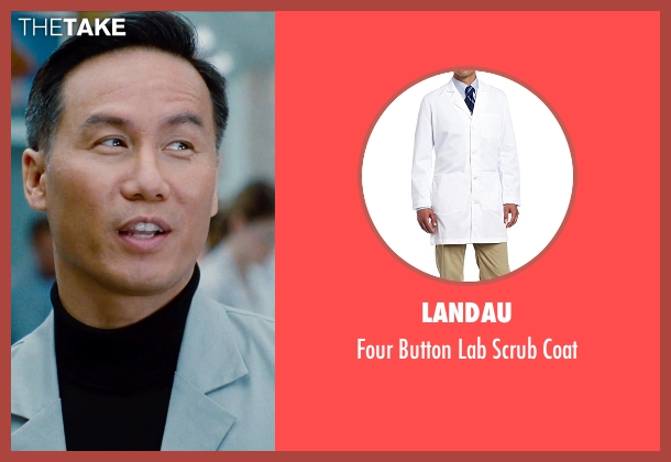 Carhartt white coat from Jurassic World seen with BD Wong (Henry Wu)