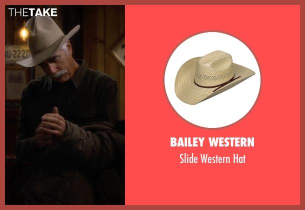 Brixton beige hat from The Ranch seen with Beau Bennett (Sam Elliott)