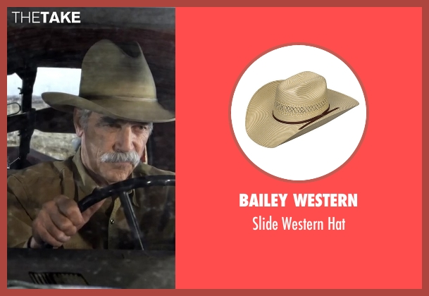 Charlie 1 Horse beige hat from The Ranch seen with Beau Bennett (Sam Elliott)