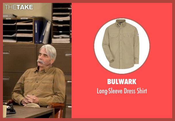 Bulwark beige shirt from The Ranch seen with Beau Bennett (Sam Elliott)