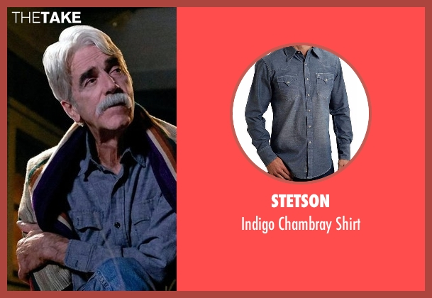Stetson blue shirt from The Ranch seen with Beau Bennett (Sam Elliott)