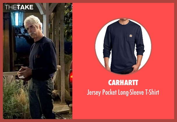 Carhartt blue t-shirt from The Ranch seen with Beau Bennett (Sam Elliott)