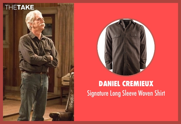 Daniel Cremieux brown shirt from The Ranch seen with Beau Bennett (Sam Elliott)