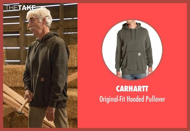 Carhartt green pullover from The Ranch seen with Beau Bennett (Sam Elliott)