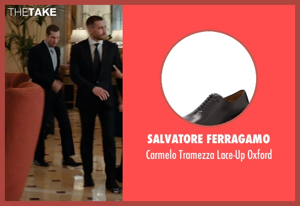 Salvatore Ferragamo black oxford from Southpaw seen with Beau Knapp (Jon Jon)