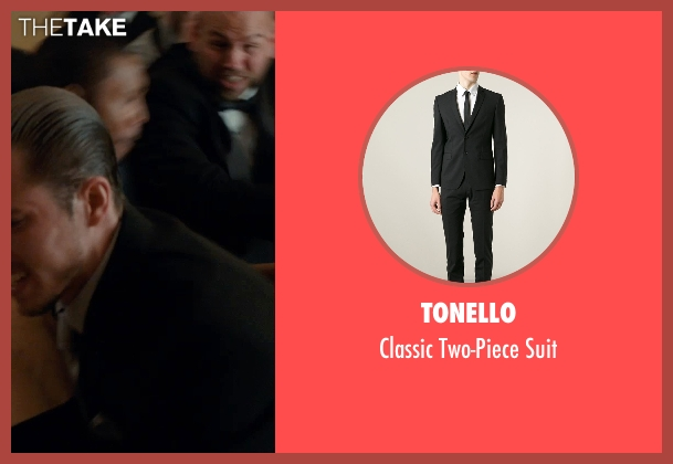 Tonello black suit from Southpaw seen with Beau Knapp (Jon Jon)