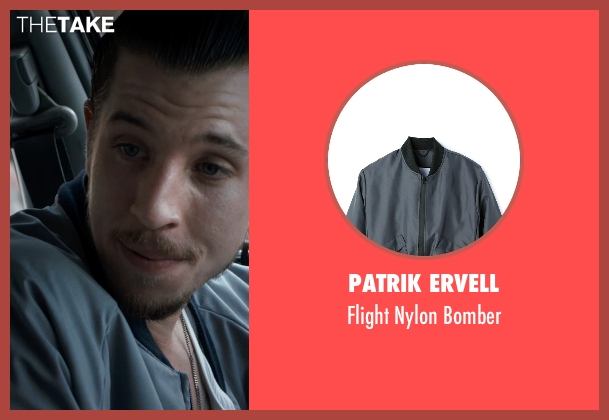 Patrik Ervell gray bomber from Southpaw seen with Beau Knapp (Jon Jon)