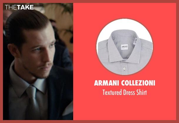 Armani Collezioni gray shirt from Southpaw seen with Beau Knapp (Jon Jon)