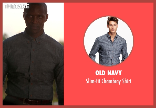 Old Navy blue shirt from The Vampire Diaries seen with Beau (Jaiden Kaine)
