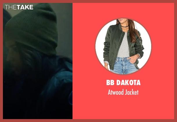 BB Dakota green jacket from Power Rangers seen with Becky G. (Trini Kwan / Yellow Ranger)