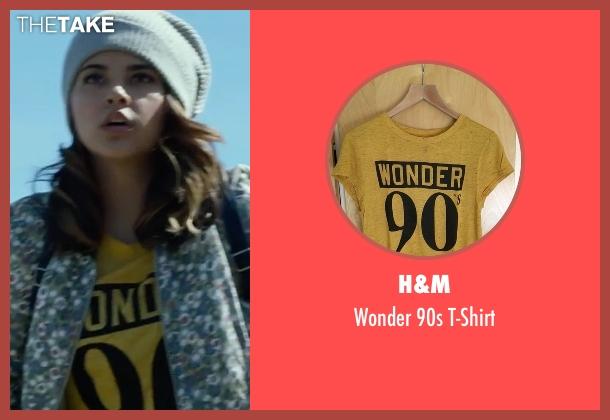 H&M yellow t-shirt from Power Rangers seen with Becky G. (Trini Kwan / Yellow Ranger)
