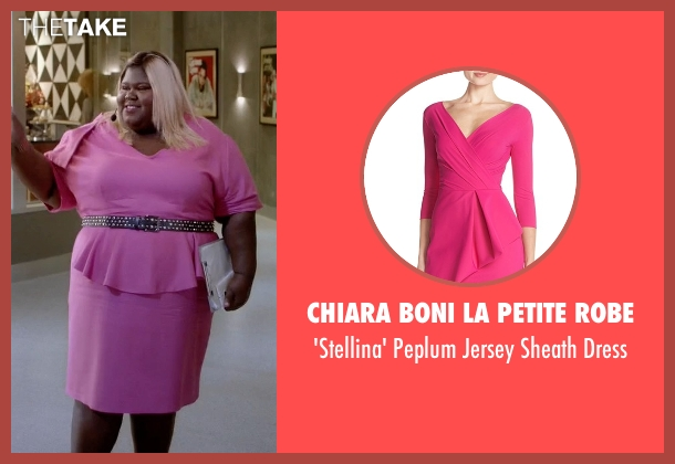 Chiara Boni La Petite Robe pink dress from Empire seen with Becky Williams (Gabourey Sidibe)