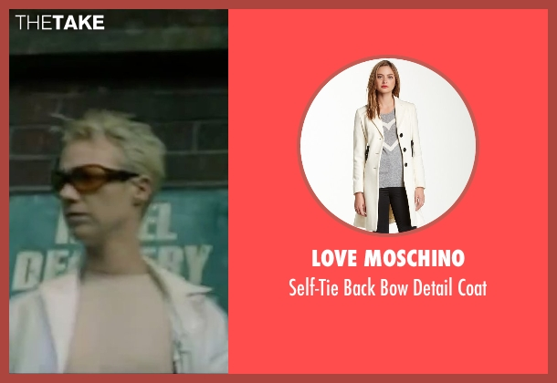 Love Moschino white coat from The Matrix seen with Belinda McClory (Switch)