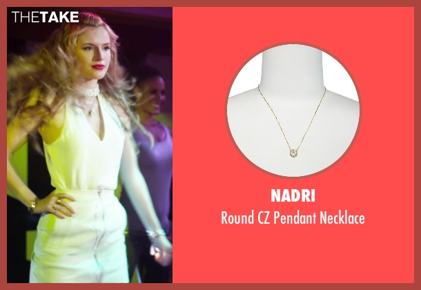 Nadri gold necklace from Alvin and the Chipmunks: The Road Chip seen with Bella Thorne (Ashley)