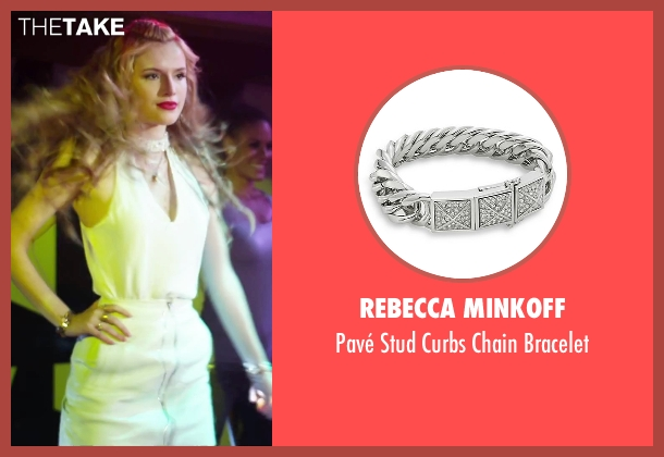 Rebecca Minkoff silver bracelet from Alvin and the Chipmunks: The Road Chip seen with Bella Thorne (Ashley)