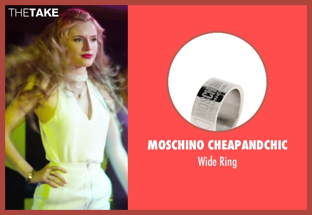 Moschino Cheapandchic silver ring from Alvin and the Chipmunks: The Road Chip seen with Bella Thorne (Ashley)