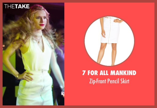 7 For All Mankind white skirt from Alvin and the Chipmunks: The Road Chip seen with Bella Thorne (Ashley)