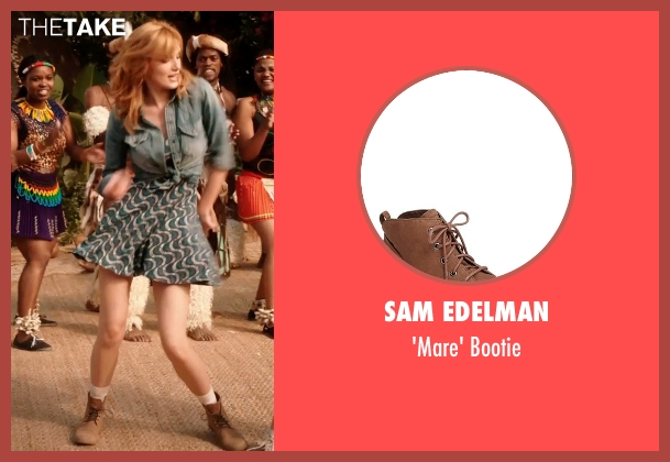 Sam Edelman brown bootie from Blended seen with Bella Thorne (Hilary Friedman)