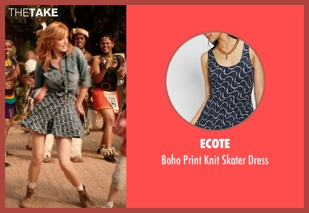 Ecote green dress from Blended seen with Bella Thorne (Hilary Friedman)