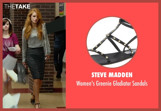 Steve Madden black sandals from The DUFF seen with Bella Thorne (Madison)