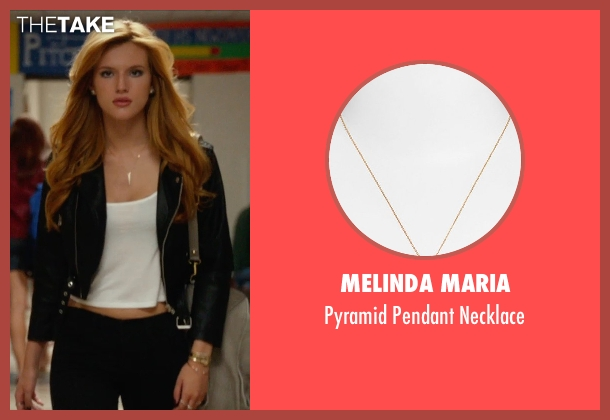 Melinda Maria gold necklace from The DUFF seen with Bella Thorne (Madison)