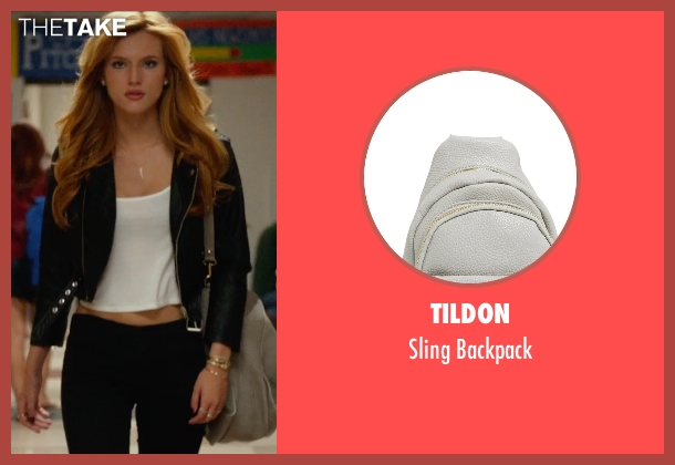 Tildon gray backpack from The DUFF seen with Bella Thorne (Madison)
