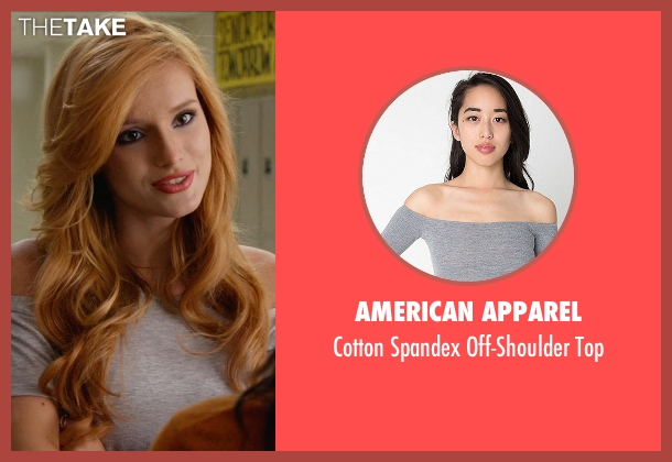 American Apparel gray top from The DUFF seen with Bella Thorne (Madison)