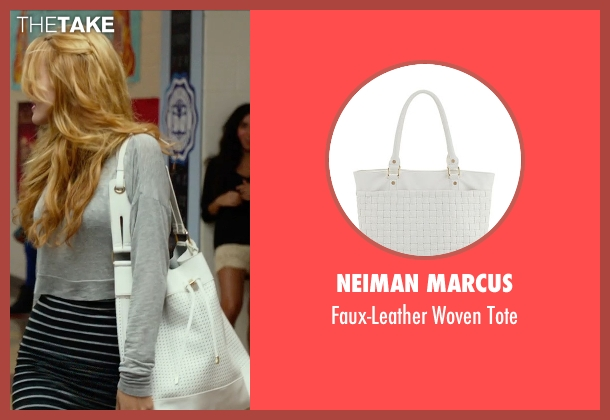 Neiman Marcus white tote from The DUFF seen with Bella Thorne (Madison)