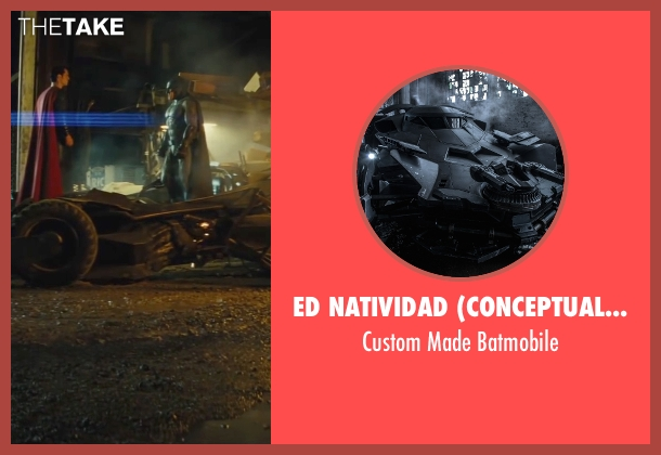 Ed Natividad (Conceptual Vehicle Designer) batmobile from Batman v Superman: Dawn of Justice seen with Ben Affleck (Bruce Wayne / Batman)