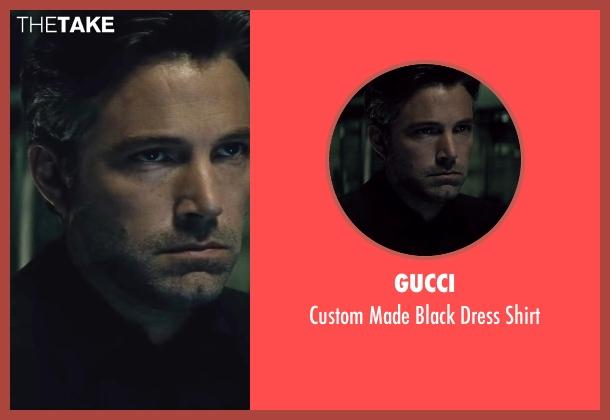 Gucci black shirt from Batman v Superman: Dawn of Justice seen with Ben Affleck (Bruce Wayne / Batman)