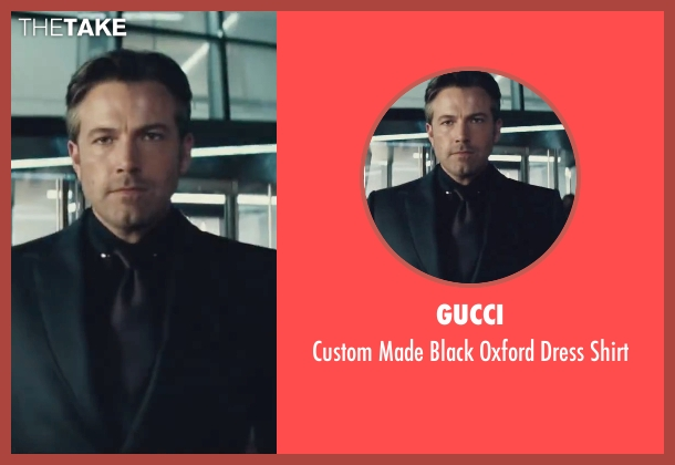 Gucci black shirt from Batman v Superman: Dawn of Justice seen with Ben Affleck (Bruce Wayne / Batman)