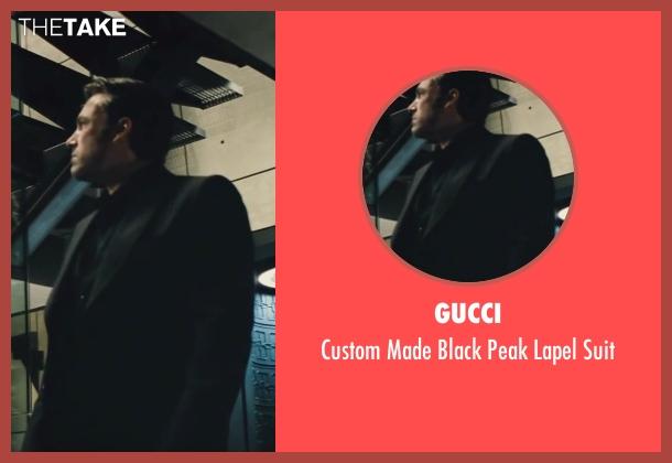 Gucci black suit from Batman v Superman: Dawn of Justice seen with Ben Affleck (Bruce Wayne / Batman)
