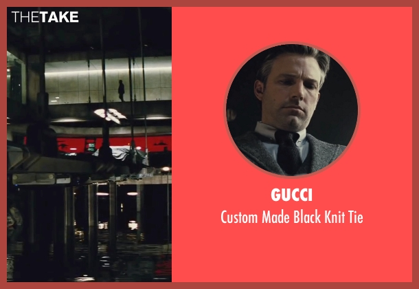 Gucci black tie from Batman v Superman: Dawn of Justice seen with Ben Affleck (Bruce Wayne / Batman)
