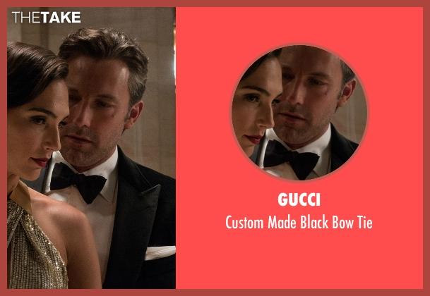 Gucci black tie from Batman v Superman: Dawn of Justice seen with Ben Affleck (Bruce Wayne / Batman)