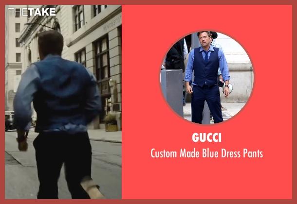 Gucci blue pants from Batman v Superman: Dawn of Justice seen with Ben Affleck (Bruce Wayne / Batman)