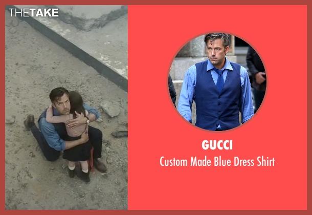 Gucci blue shirt from Batman v Superman: Dawn of Justice seen with Ben Affleck (Bruce Wayne / Batman)