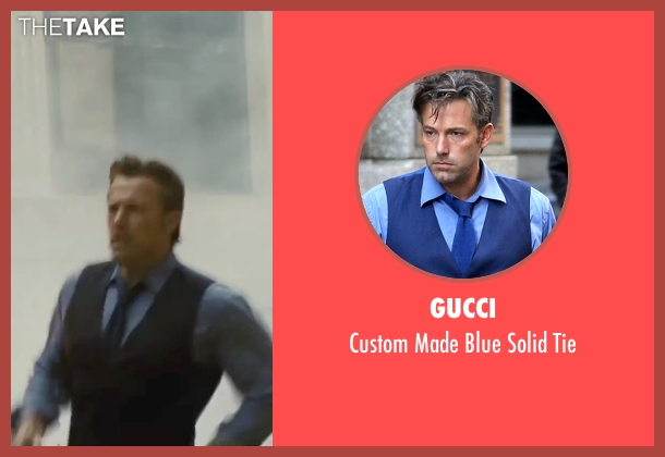 Gucci blue tie from Batman v Superman: Dawn of Justice seen with Ben Affleck (Bruce Wayne / Batman)