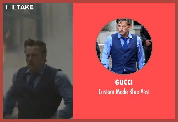 Gucci blue vest from Batman v Superman: Dawn of Justice seen with Ben Affleck (Bruce Wayne / Batman)