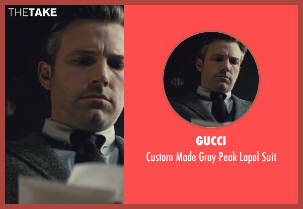 Gucci gray suit from Batman v Superman: Dawn of Justice seen with Ben Affleck (Bruce Wayne / Batman)