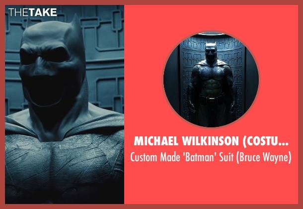 Michael Wilkinson (Costume Designer) suit from Batman v Superman: Dawn of Justice seen with Ben Affleck (Bruce Wayne / Batman)