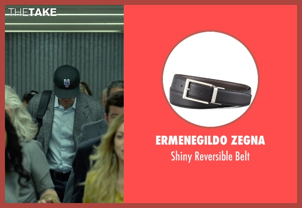 Ermenegildo Zegna black belt from Gone Girl seen with Ben Affleck (Nick Dunne)