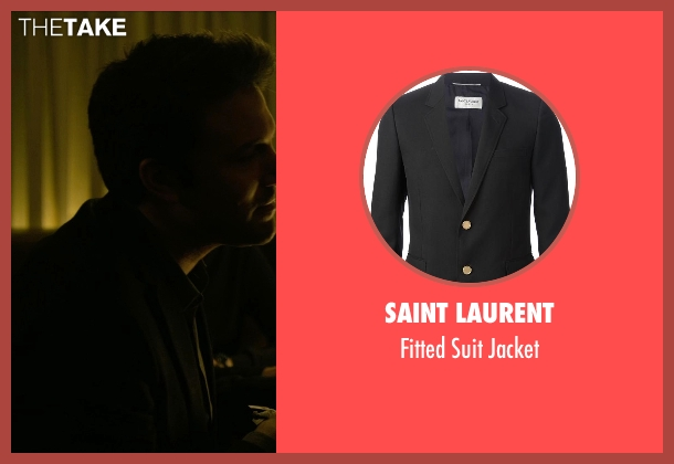 Saint Laurent black jacket from Gone Girl seen with Ben Affleck (Nick Dunne)