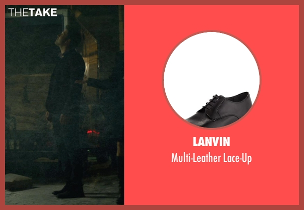 Lanvin black lace-up from Gone Girl seen with Ben Affleck (Nick Dunne)