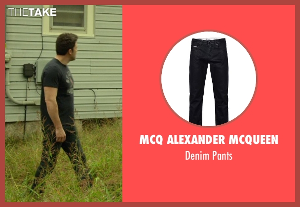 MCQ Alexander Mcqueen black pants from Gone Girl seen with Ben Affleck (Nick Dunne)