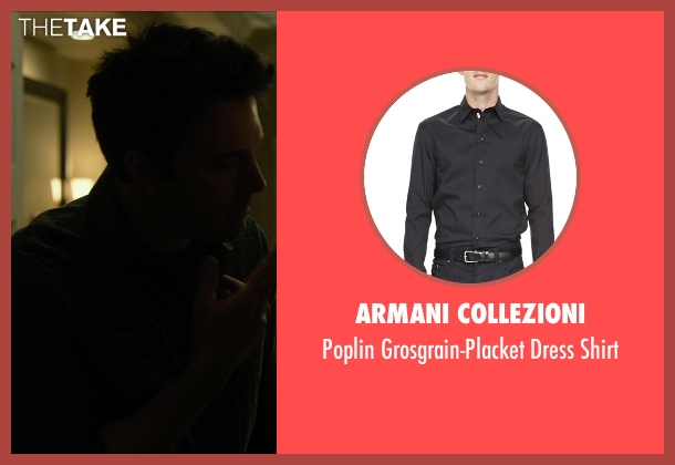 Armani Collezioni black shirt from Gone Girl seen with Ben Affleck (Nick Dunne)