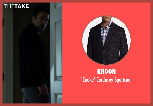 Kroon black sportcoat from Gone Girl seen with Ben Affleck (Nick Dunne)