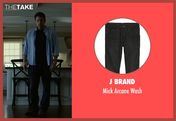 J Brand black wash from Gone Girl seen with Ben Affleck (Nick Dunne)