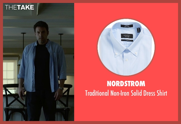 Nordstrom blue shirt from Gone Girl seen with Ben Affleck (Nick Dunne)