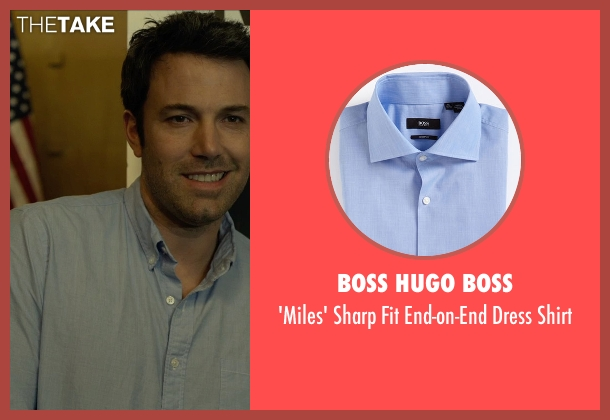Boss Hugo Boss blue shirt from Gone Girl seen with Ben Affleck (Nick Dunne)